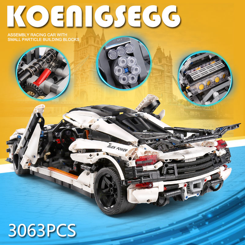 MOULD KING 13120 Compatible With MOC-4789 Speed Race Car
