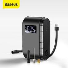 Baseus kablosuz şişme pompa taşınabilir elektrikli hava pompası araba motosiklet bisiklet lastiği şişirme akıllı araba hava kompresörü