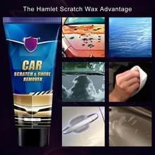 Dissolvant de rayures et de tourbillon pour voiture, outil de réparation de rayures automobiles, cire de polissage, crème d'entretien anti-rayures, 60ml
