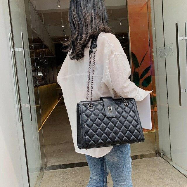 Women Leather Handbags Vintage Female Shoulder Bag Ladies Desinger Large Tote Bags for Girl Crossbody Bags Black Bag bolso mujer 1