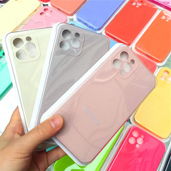 Ochrona obiektywu aparatu oryginalny silikonowy futerał na telefon iPhone 11 12 Pro Max 12 Mini pełny pokrowiec na Apple iPhone 11 Pro MAX etui tanie i dobre opinie CN (pochodzenie) Częściowo przysłonięte etui Original Silicone Case For iphone 12 pro Zwykły
