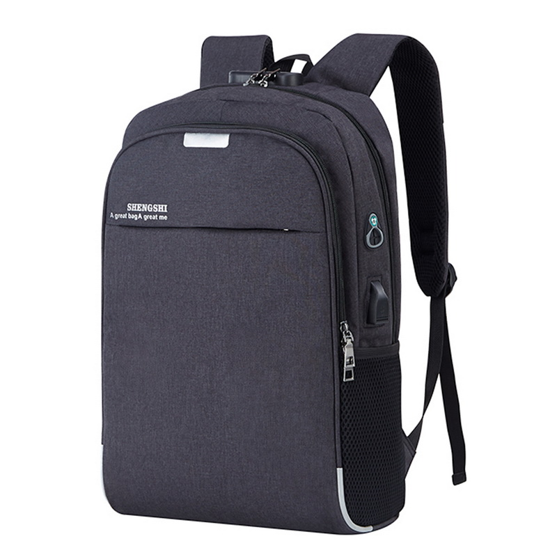 Puimentiua Laptop Backpack USB Charging 15.6 Inch  Theft Women Men School Bags For Teenage Girls College Travel Backpack Male