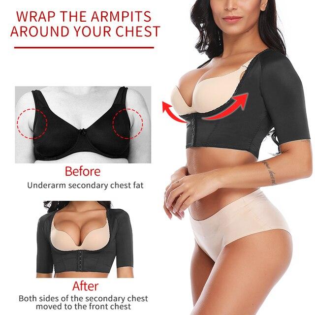 Women's Shapewear Tops Wear Your Own Bra Short Sleeve Crop Top Arm Posture Corrector Crop Top Arm Shapers Short Sleeve Humpback 4