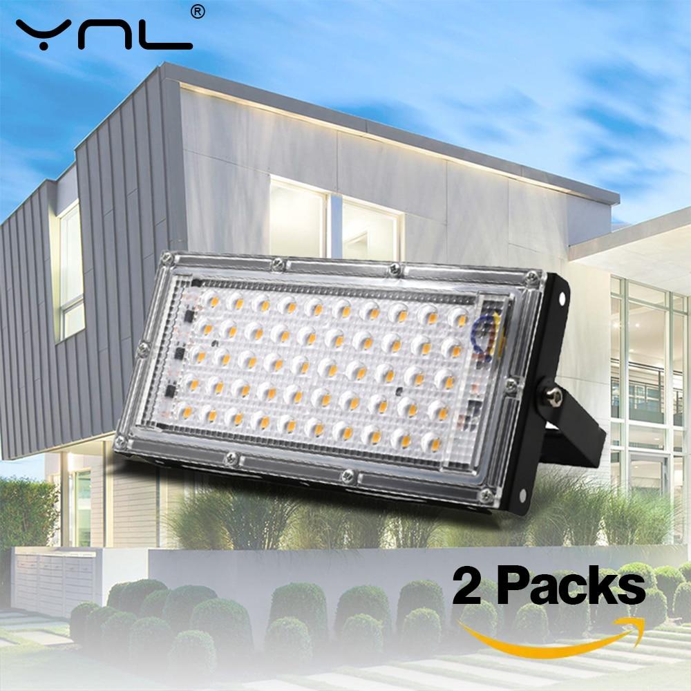 2pcs/lot Led Flood Light 50W AC 220V 240V Floodlight LED Projector Outdoor IP65 Waterproof Wall Reflector Garden Street Lighting