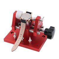 Professional Red Watch Bezel Opener Removal Tool Workbench Back Case Opener Tool Watch Parts Repair Tool for Watchmaker Snap On