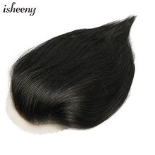 "100% Human Hair Piece For Men 17*11 U Style Forehead Toupee Wig 6"" Short Remy Hair With Lace Base Natural Hand Made(China)"