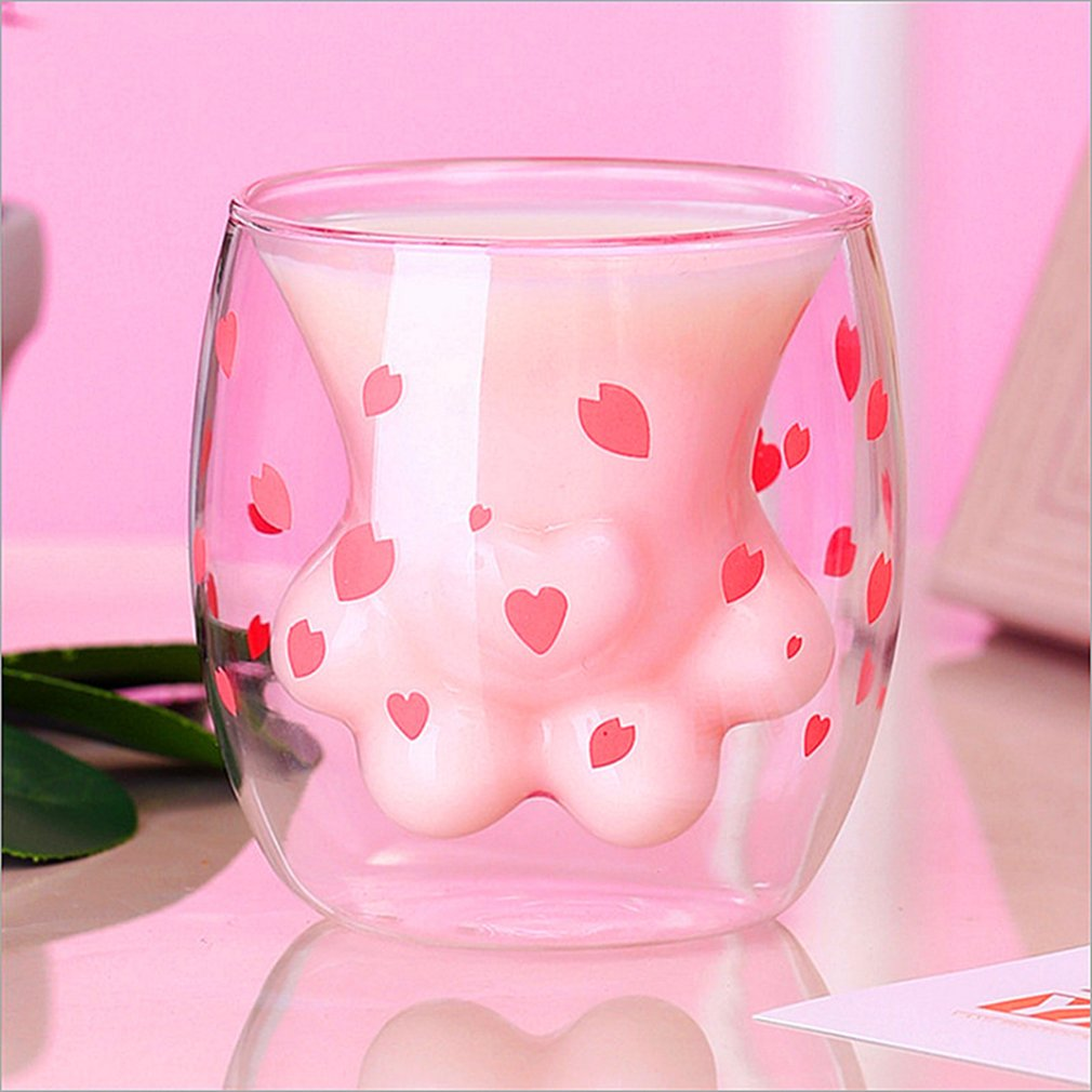 Cute Double Layers Cat Paw Cup 6