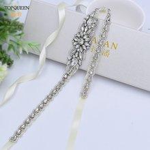 Женский ремень для свадьбы topqueen s385 стразы с серебряными