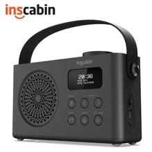Inscabin P9 Portable DAB/DAB+ FM Digital Radio with Bluetooth/Beautiful design/Dual Alarm Clock/Rechargable Battery