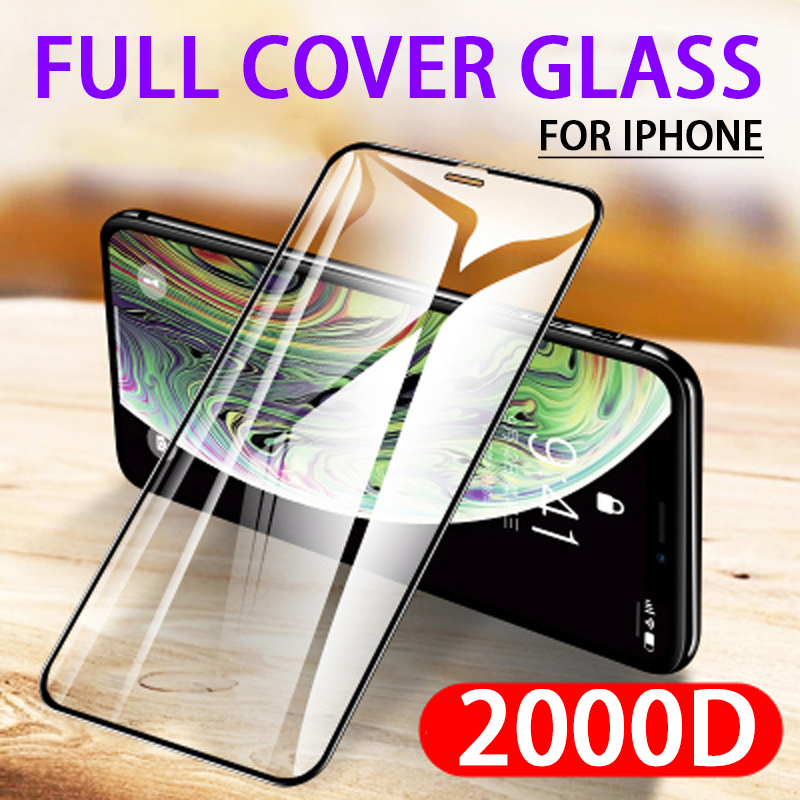 2000D Tempered Glass on the For Apple Iphone 12 Se 2020 XS 11 Pro Max XR X Screen Protector ipone 6 6S 7 8 Plus Protective Film