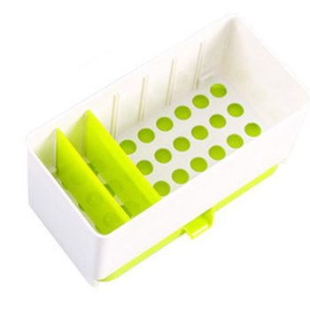 Multifunctional Double Division Plate Kitchen Draining Storage Home Rack Chopsticks Spoon Dry Basket Tableware Holder Organizer image