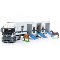 Mini Simulation Transfer Alloy Car Model Set Hong Kong Jockey Club Carriage Die casting Truck F Three Horse Model Gift Collect