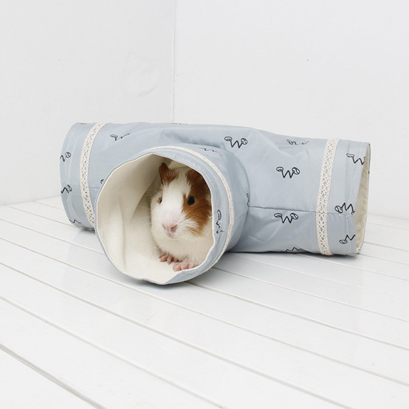 Small Animals Tunnel Tubes Guinea Pig Hamster Three-way Tunnels Toy Tube Hamster Cage House Single Channel Pet Products