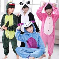 Children Pajamas Unicorn Winter Pajama Cartoon Animal Sleepwear Onesie Kids Fleece Kigurumi Warm Flannel Kids Blanket Sleepwear