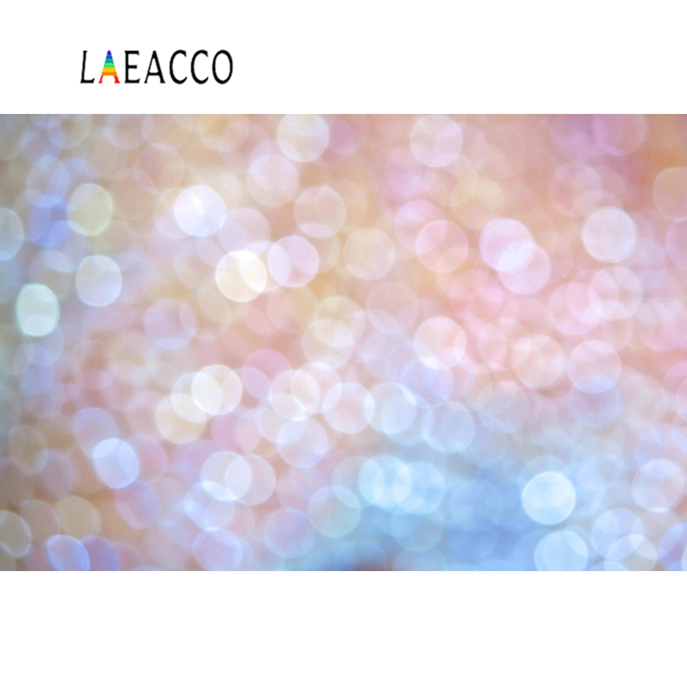 Laeacco Dreamy Glitter Polka Dots Baby Portrait Photographic Backgrounds Customized Backdrops For Photo Studio
