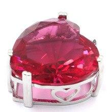 Elegant Long Big Drop Pink Tourmaline, White CZ Wedding 925 Gold Silver Earrings Gift 50x22mm