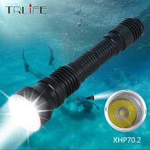 80000LM Professional Ultra Powerful Diving Flashlight XHP70.2 IP8 Underwater 200M Waterproof Scuba Dive Torch Light Lamp цена в Москве и Питере