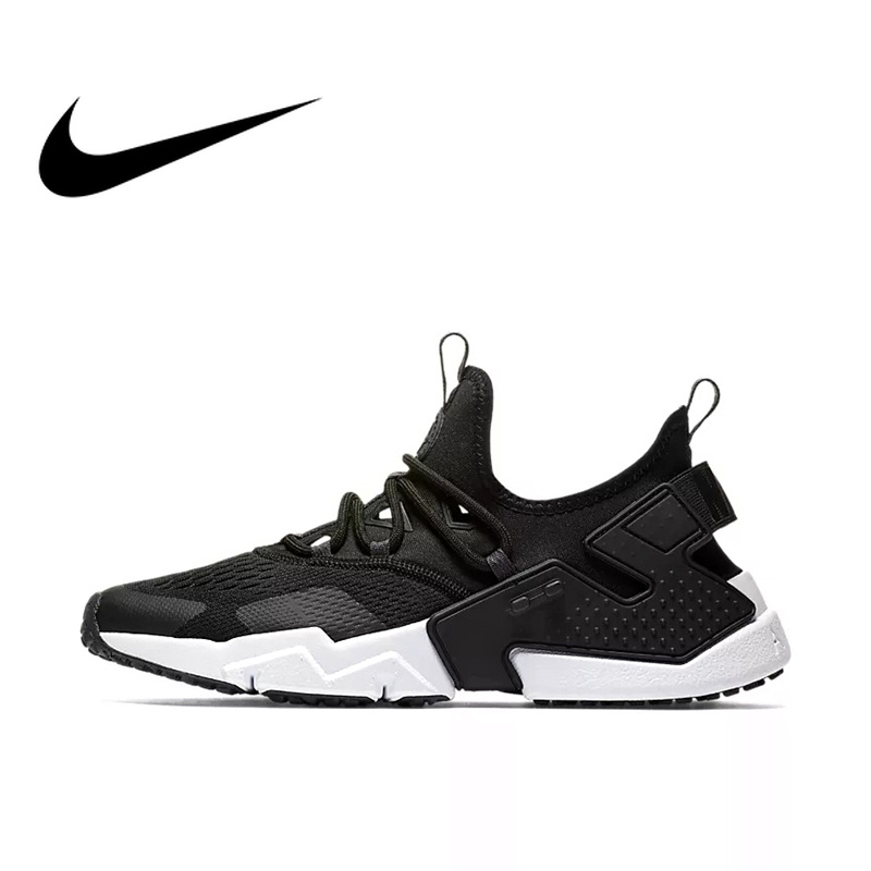 Original Authentic NIKE Air Huarache Drift BR Mens Running Shoes Outdoor Sneakers Breathable Sports Walking Jogging AO1133-002