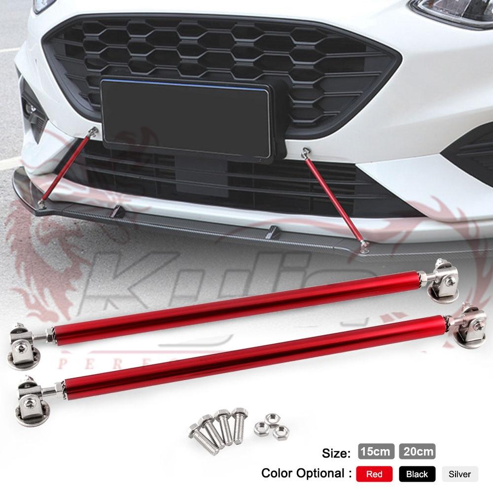 "9/"" GOLD Adjustable Front Bumper Lip Splitter Brace Rod Support Bar Universal"