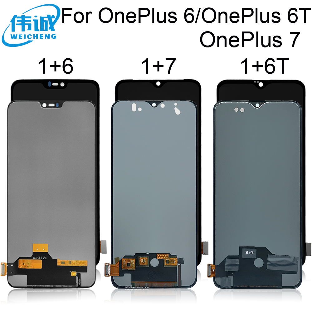 Incell TFT Tested For <font><b>OnePlus</b></font> 6 1+6 <font><b>A6000</b></font> LCD Display Touch <font><b>Screen</b></font> Assembly With Frame For <font><b>OnePlus</b></font> 6T A6010 <font><b>Oneplus</b></font> 7 GM190 image