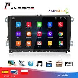 Автомагнитола AMPrime, мультимедийный плеер на Android 6,0, с 9