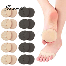10 Pair Five Toes Forefoot Insoles for Shoes Women Foot Cushion Pad High Heel Protector Calluses Corns Toe Separator Insert Sock
