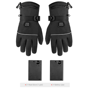Waterproof Motorcycle Gloves Heated Guantes Moto Heating USB Hand Warmer Electric Thermal Heated Gloves Battery Powered Gloves 7