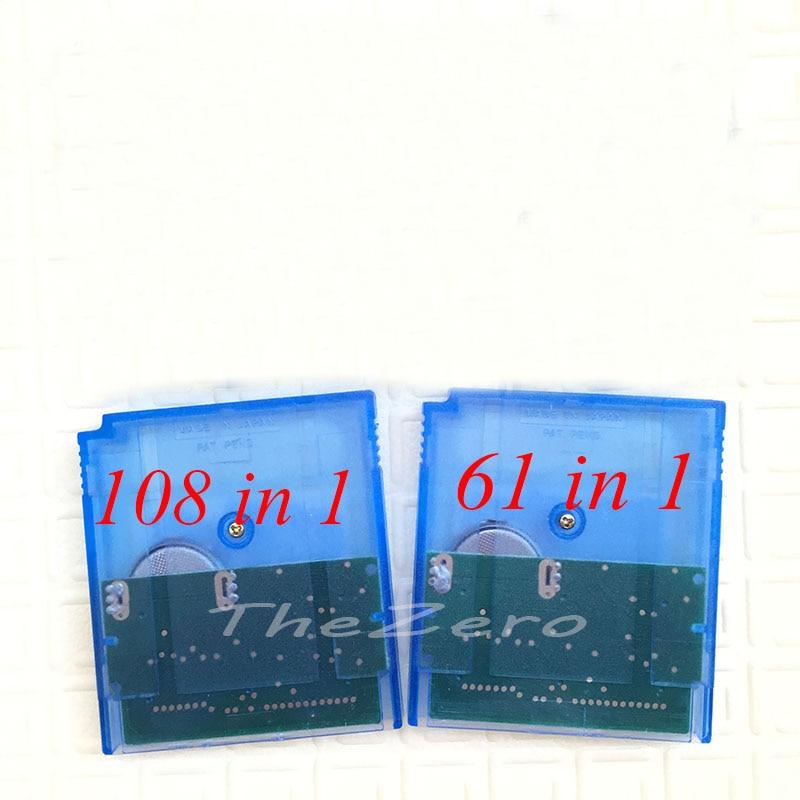 108 IN1 61 IN1 Cartucho de Cartão de Jogo de Console Video Game para 16 Bit MC007 108in1 MC006 61in1 100% Poupança