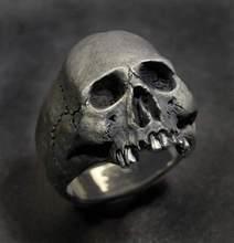 SECRET BOYS-anillo gótico calavera de Horror para hombre, Punk, carburo Retro, regalo de joyería para fiesta