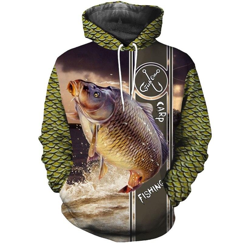 PLstar Cosmos New Carp Fashion Animal Fishing Art Harajuku Casual Tracksuit Funny 3D Hoodies/Sweatshirt/Jacket/Mens Womens-5
