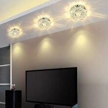 Потолочный светильник для прохода, освещение на веранде, потолочный светильник с кристаллами, светодиодный потолочный светильник для гостиной