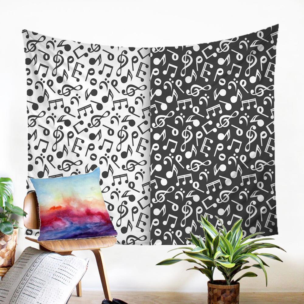 Тканевый настенный гобелен Beateous Настенный Ковер магнитная лента узор подвесной Современный домашний декор черный и белый макраме панель