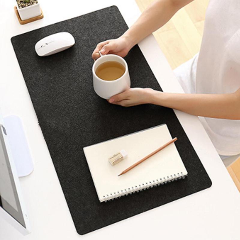 Simple Large Office Desk Mat Modern Table Keyboard Computer Mouse Pad Wool Felt Laptop Cushion Mice Mat Gaming Mousepad 70X33cm