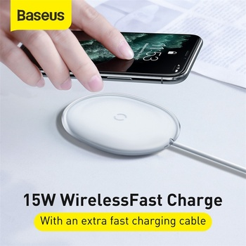 Baseus 15W Qi Wireless Charger for iPhone Power Fast Charging with 1m Type-C data Cable Charger for Mobile Phone Headphones