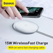 Baseus 15W Qi Wireless Charger for iPhone Power Fast Charging with 1m Type-C data Cable Charger for Mobile Phone Headphones for glc wireless charger 15w power c class charger mobile phone fast charging adaptor2015 2019 c63 c180 c200 w205 car qi charger