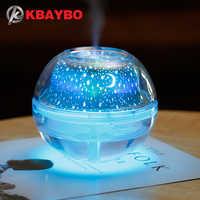 USB Crystal night lamp projector 500ml air humidifier Desktop Aroma diffuser ultrasonic mist maker LED night light for home