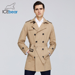 ICEbear 2020 New men's trench coat high-quality men's long lapel windbreakers men's brand clothing MWF20709D