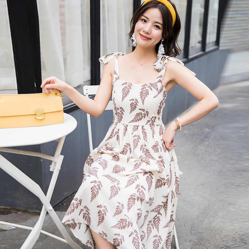 SINGRAIN ผู้หญิงฤดูร้อนโบฮีเมียนยาวสไตล์เกาหลีพิมพ์ชีฟอง Ruched Sundress ใหม่ Holiday Beach ชุดดอกไม้