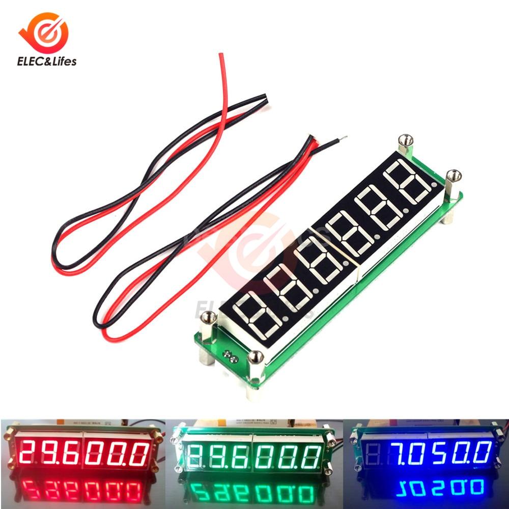 Красный/синий/зеленый светодиодный дисплей 6 цифр 0,1 MHz ~ 65MHz цифровой RF счетчик частоты тестер цимометр PLJ-6 светодиодный-A DC 8V ~ 15V