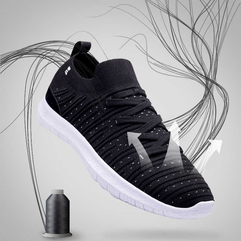 ONEMIX חדש יוניסקס גרב הליכה נעלי אור משקל להחליק על סנדלי סרוג לנשימה רשת אתלטי נעליים יומיומיות הליכה סניקרס