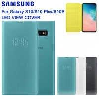 Samsung Original Smart LED View Case For Samsung Galaxy S10 X SM-G9730 S10+ S10 Plus SM-G9750 S10E SM-G9700 Wallet Flip Cover