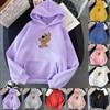 Women Hoodies Casual Planet Print Solid Loose Drawstring Sweatshirt Long Sleeve Hooded 2020 Autumn Female Pullover 2