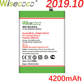 Wisecoco HB366179ECW 4200mAh New Battery For Huawei Nova 2 Nova2 PIC-AL00 PIC-TL00 PIC-L29 PIC-LX9 PIC-L09 battery huawei original nova 2 lcd display touch screen digitizer for huawei nova2 display with frame replacement pic al00 pic tl00
