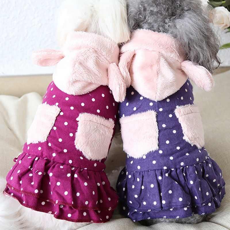 Pet Cappotti Del Cane di Inverno Giubbotti Vestiti Cucciolo Caldo del Modello di Puntino del Vestito di Inverno Costume per le Piccole Cani di Taglia Grande