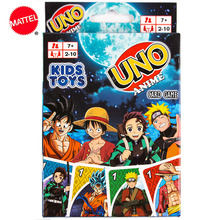 Board-Game-Card Poker Party-Toys Mattel-Games One-Piece Anime Family New Fun Uno:cartoon