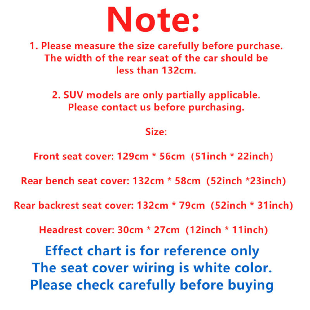 Black PU Leather Car Seat Cover Replacement For Toyota RAV4 4runner Highlander