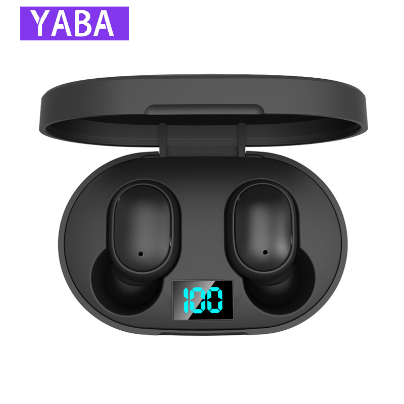YABA Digital Display Wireless Headphones,Stereo Earbud Headset For Air Dots,Handsfree Bluetooth Earphone For Redmi Airdots