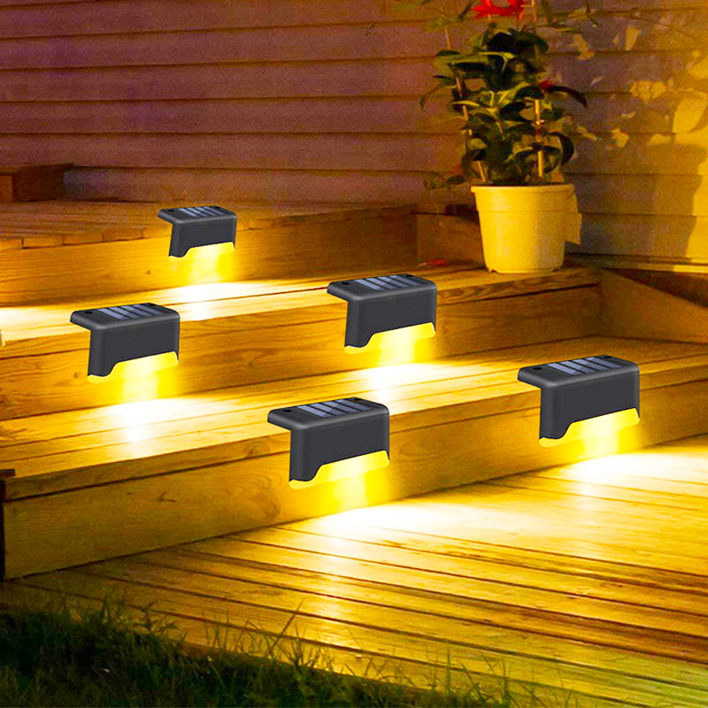 Luces solares de cubierta para exteriores, lámpara Led impermeable para escalones, barandilla y decoración de escaleras