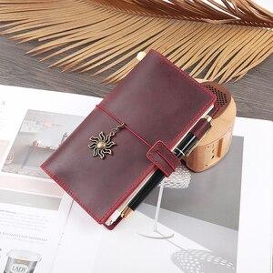 Image 5 - 100% جلد طبيعي دفتر حجم الشخصية اليدوية دفتر يوميات متعددة الوظائف دفتر الرسم مخطط القرطاسية عالية الجودة