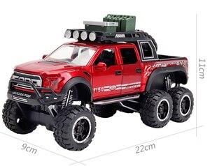 Image 5 - 1:32 Raptor F150 טנדר משאית מתכת צעצוע מכוניות דגם עם מוסיקה מהבהב קול עבור בני יום הולדת מתנות משלוח חינם
